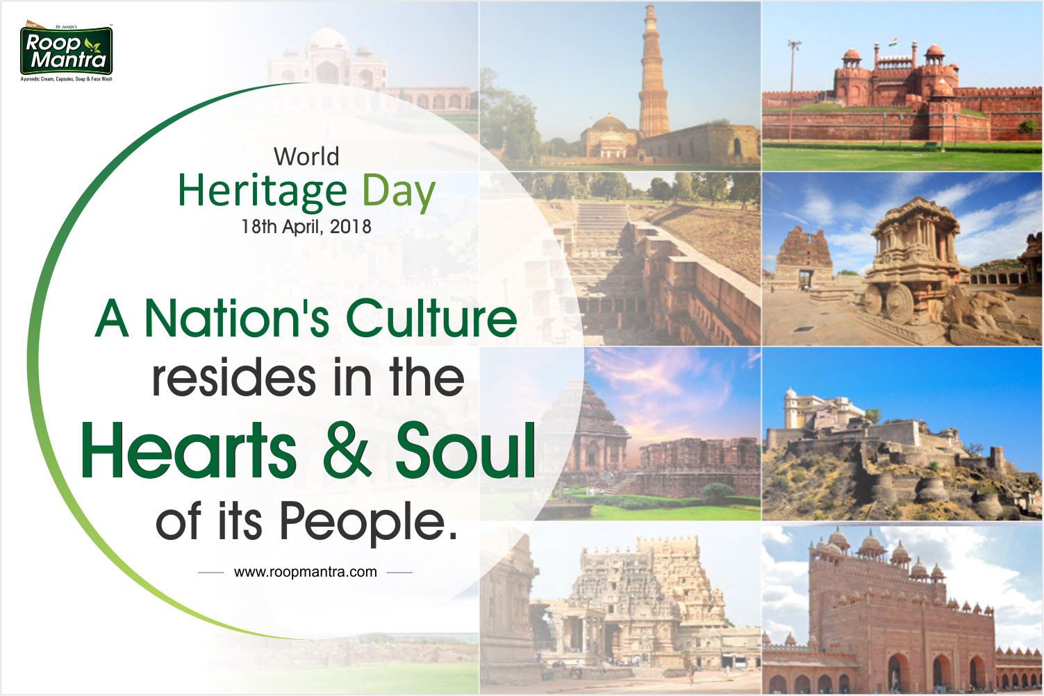 18 April 2018, World Heritage Day, Indian Festival, Roop Mantra