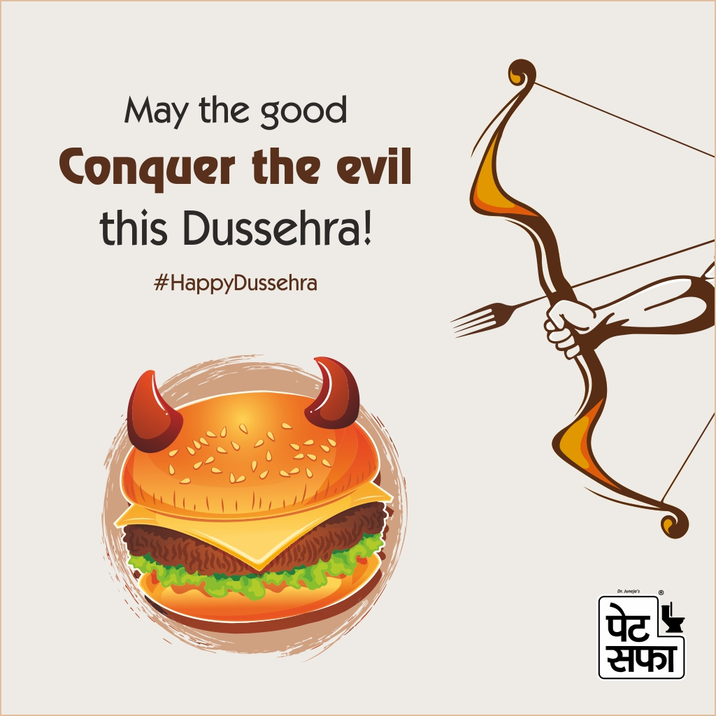 Celebrate a victorious Dussehra by winning over the stomach issues with-PetSaffa
