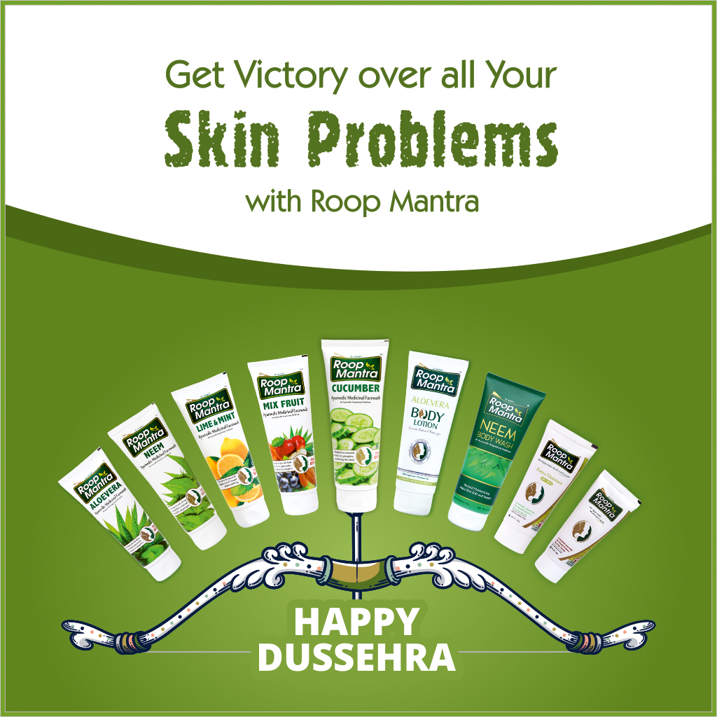 This Dussehra win over your Skin Problems with #RoopMantra and Make your Skin Glow Naturally